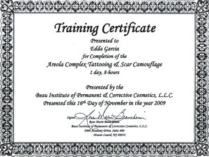 Free award certificate template outstanding achievement tattoo for Tattoo classes online free