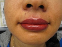 permanent lip color tattoo